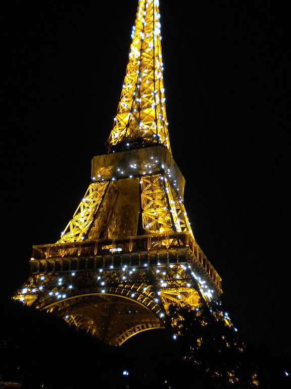 Eiffel Tower, Paris, France ldurring the five minute twinkle on the hour.