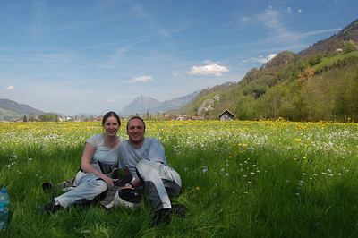 "Lunch in a flowered field (""The hills are alive...."")"