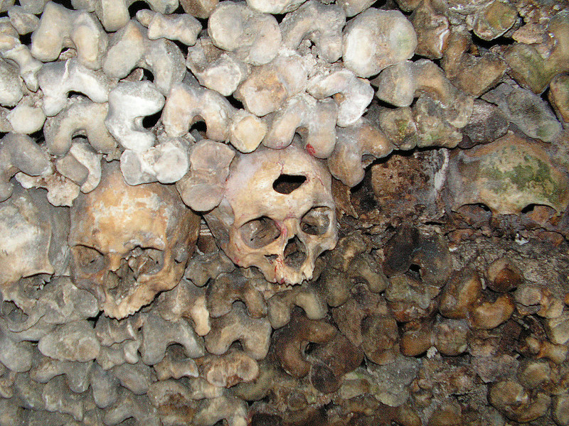 The Catacombs of Paris. HUm. I wonder what did him in?