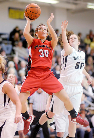 Frankton's Kelsey Key shoots as the Eagles faced the Winchester Golden Falcons in the sectional final at Shenandoah on Saturday.