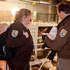 Reviewing container specs with Wildlife Inspector Kelly French, Feb. 2010<br /> Panda TaiShan moved by FedEx from Zoo to Dulles Airport on a 777 to China. Photos By Smithsonian NASM Photographer Dane A. Penland