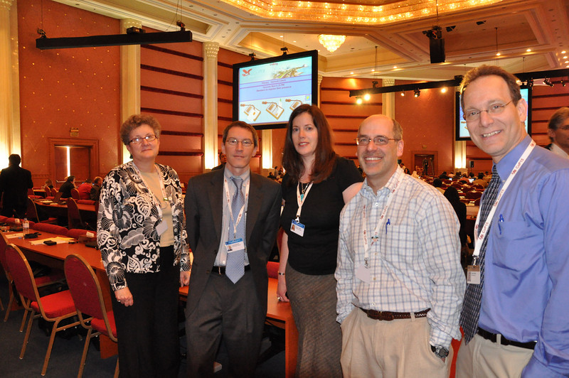 With colleagues during plenary at CITES CoP15 in Doha, Qatar, March 2010
