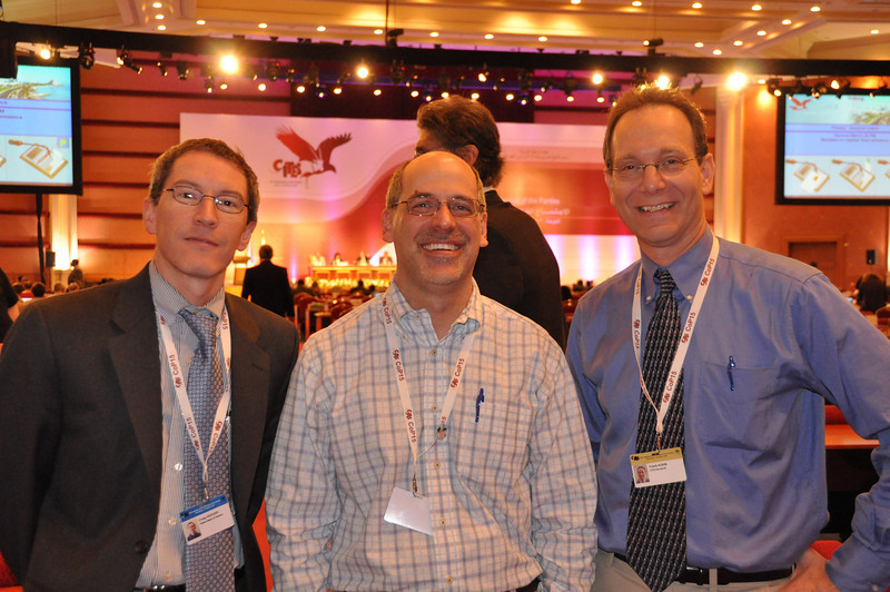 With Craig Hoover and Bruce Weissgold at CITES CoP15, Doha, Qatar, March 2010