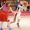 Don Knight / The Herald Bulletin<br /> Frankton's Katie Key shoots as the Eagles hosted Jay County on Thursday.