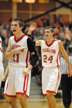 Austin Compton reacts after the Eagles forced Wapahani into double overtime.