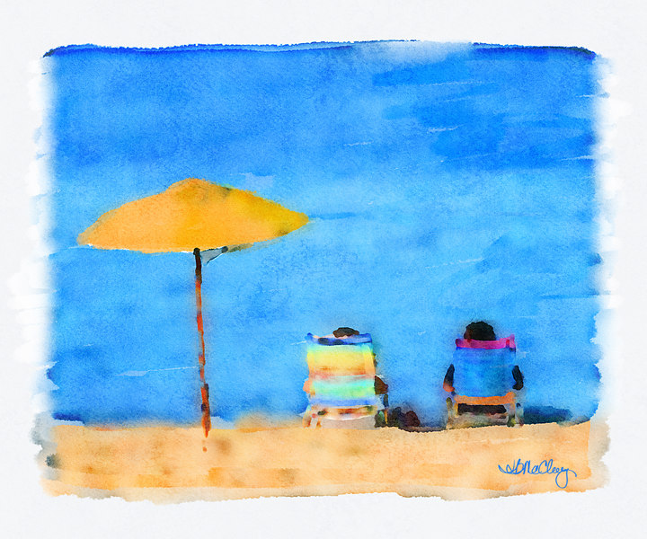 Cedar Beach Social<br /> (Digital Watercolor)<br /> Contact Vivid Visions Studio for ordering Info.