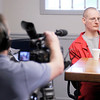 Fredrick Baer talks to The Herald Bulletin during an interview at the Indiana State Prison in Michigan City on Tuesday