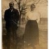 (photo-bt) . . . Claus and Marie :: (from Bob & Rita Elmen's Fredine family history).<br /> <br />  Maria Kristina Anderson Fredine ----- died 4 March 1959.<br />  ..........Born 2 June 1867 in Roasjo, Alvsborgs, Vasterjotland, Sweden.<br /> <br />  Claus Samuelson Fredine ----- died 12 Aug 1946.<br />  ..........Born 5 Dec. 1860 in Toarp, Vasterjotland, Sweden.
