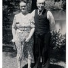 "(photo-ah) . . . 1940 - 50th Wedding Anniversary of Claus & Marie"" :: {from Bob Elmen's Fredine family history}.<br /> - Married 28 May 1890 -- Red Wing, Minn..<br /> - - - - - - - Claus and Marie -- Parents of :<br />  Clarence Arthur Fredine ---- 1892-1964. <br />  Rudolf Marion Fredine ---- 1895-1983.<br />  Mabel Eugenia Alfilda Fredine Anderson ---- 1897-1970.<br />  Judith Augusta Christina Fredine Hove ---- 1899- .<br />  Sadie Mathilda Fredine Hale ---- 1902-1972.<br />  Elmer Arnold Fredine ---- 1904-1986.<br />  Adelaide Rebecka Fredine Falk ---- 1912-1995.<br />  -Ralph Thomas Anderson ---- 1917-1983 (a nephew of Marie's, lived with Claus and Marie for much of growing up).<br /> <br />  Scanned print size 3"" x 4-3/8"" with serrated edge."