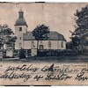 "(photo-bv) . . . <br /> <br /> ""their home church in Toarps, Sweden"" :: {from Darlene}.<br /> <br /> - - Appears to have been postcard format on back. There was some writing on back but extremely obscured."