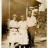 "(photo-aj) . . . Mabel  --  Mabel's mother Marie Fredine  --  Fred.<br /> <br /> Scanned print is 2-1/2"" x 3-1/2""."