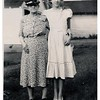"(photo-bp) . . .  - """"Grandma & Darlene""""  ::  {from Bob & Rita Elmen's Fredine family history}. -- {29.May.2013 comment from Darlene} :: ""this was taken on my 14th birthday, on a Sunday, and it was my Confirmation Day. would have been 65 years ago on the 16th of May! Loved my Grandma Fredine (the gramma who always had home-made cookies in her special cookiejar!)"" --- Scanned print size 2-1/2"" x 3-1/2"". ---- Print sent to Darlene."