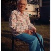 "(photo-bg) . . . Judith Augusta Christina Fredine Hove. <br /> - ""Taken on my 88th birthday , Aug 28, 1987 - Judith Fredine Hove"" :: {writing on back of print}."