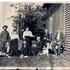 (photo-cx) . . . Claus is man sitting on the lower step in :: {from Bob & Rita Elmen's Fredine family history}.