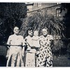 "(photo-ay) . . . Marie Fredine on left. , Judy Fredine Hove on right. - - - - - ""in the middle is Judy's daughter Mary Lou"" :: {from Darlene}.<br /> -  Scanned print size 2-1/2"" x 3-1/2"" with serrated edges."