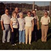 "(photo-br) . . . <br /> <br /> {writing on back looks like} :: ""Virgil (Virg), Willard (Bill), Eldon (Al), Merle (Bud), Mary Lou (Marie Balcome), Mom- Judith, Judy Iola (Judy- Gene Kruempel), August 28th 1991 - My 92nd birthday""<br /> <br /> {from Darlene 29 May 2013} :: ""I believe the men are mislabeled - from left to right - Merle (BUD) - Willard ( Bill ) - Eldon (Al) and Virgil (Virg) on the right. I always remember Virgil as a very little guy. We are going to visit BUD in June. His wife MAGGIE passed away this summer. He is in Coatesville, PA-""<br /> <br /> {from Judy Iola 2 Jun 2013} :: ""Bud and Eldon are switched on this photo. Bud, El, Bill, and Virgil: Mary Lou, Judith, Judy Iola"""
