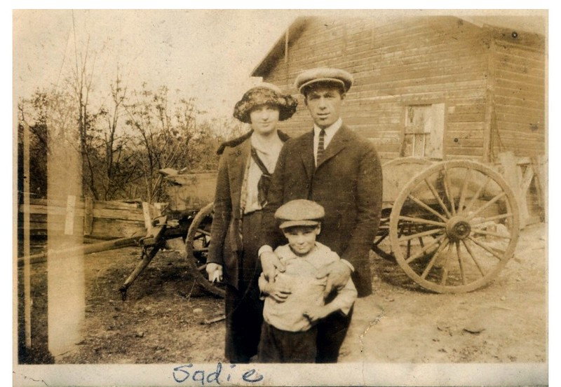 """(photo-bl) . . . <br /> - """"""""Sadie"""""""" :: {written on print}.<br /> -- Obscured writing on back of print looks something like :: """"""""Billie Hapine,  c... ...alp..."""""""" <br /> - """"It could be Sadie, but no idea who the other two are"""" :: {from Rita}.<br /> ---- Print sent to Rita."""