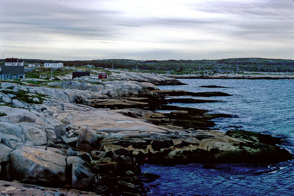 This is an area of Nova Scotia called Peggy's Cove.  I shot it in August of 1979 while on a family vacation.  Upon returning from vacation, I immediately went off to school, and my father had the slides developed.  I forget about them, and never saw them, until I rediscovered the box of slides in 2005.  <br /> <br /> Shot on Kodachrome 64 with a Konica T3 and a 50mm f1.7.<br /> Copyright 2006 John M. Cerra