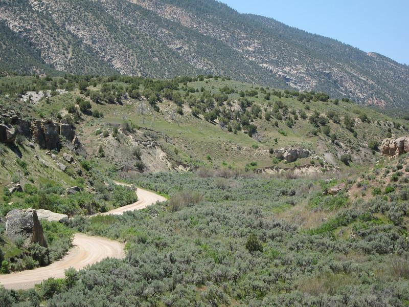 The road to McKee Springs in NE Utah.