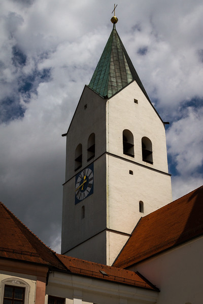 rooftops and bell tower, Freising Dom