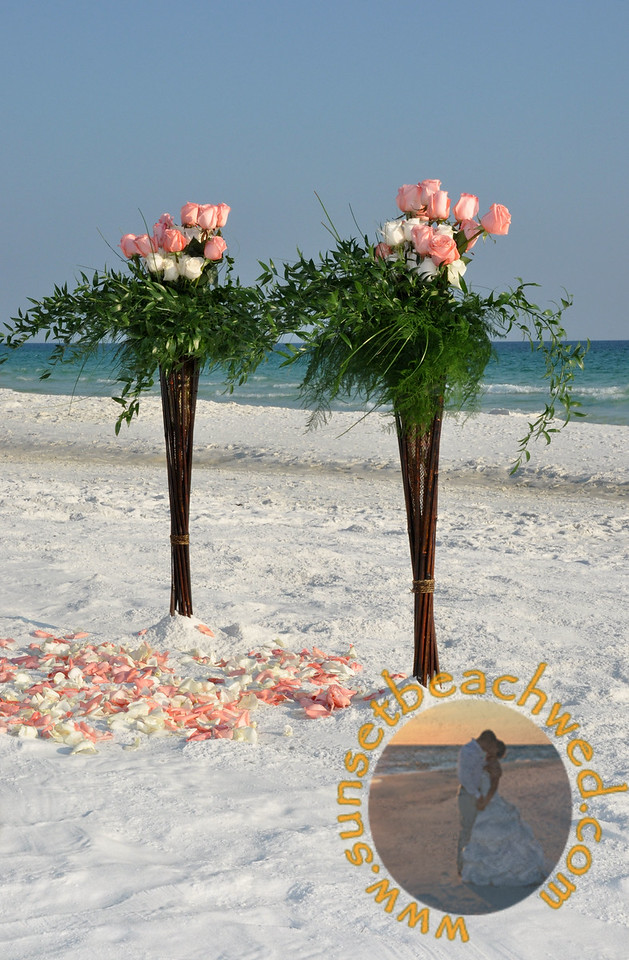 Pink and Cream Rose Arrangements, Pink and Cream Rose Petals