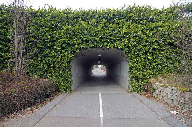 The San Jose underpass/tunnel along Clovis Ave.
