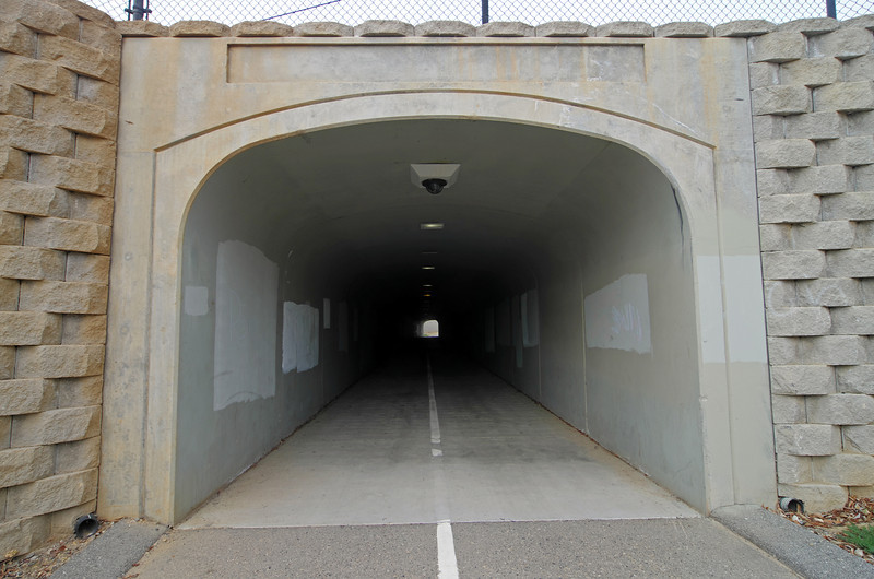 The Willow ave underpass/tunnel.  I think that this is the longest tunnel along this trail, even longer than the Herndon ave one if you can believe that.