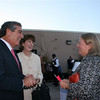 Charter Board meber Leslie Newman (Kentucky) chats with Louisville Mayor Abramson and his wife Madeline at Medieval fundraiser.
