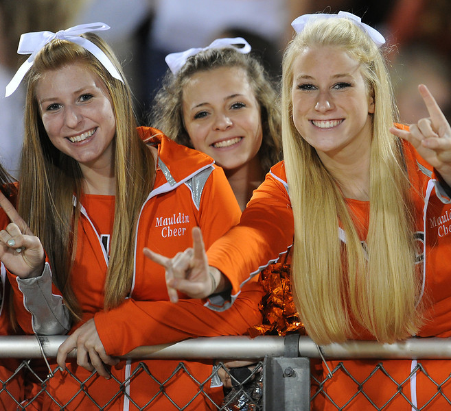 The Mauldin Mavericks played host to the Spartanburg Vikings in a Region 2-AAAA football game.<br /> GWINN DAVIS PHOTOS<br /> gwinndavisphotos.com (website)<br /> (864) 915-0411 (cell)<br /> gwinndavis@gmail.com  (e-mail) <br /> Gwinn Davis (FaceBook)