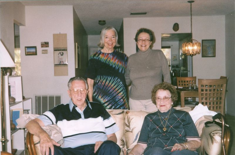 Hedy (standing left), Roseann, and Martha (seated with husband Les).  Hedy was a member of the LSA of Bethlehem and Martha was a long time resident of Easton.