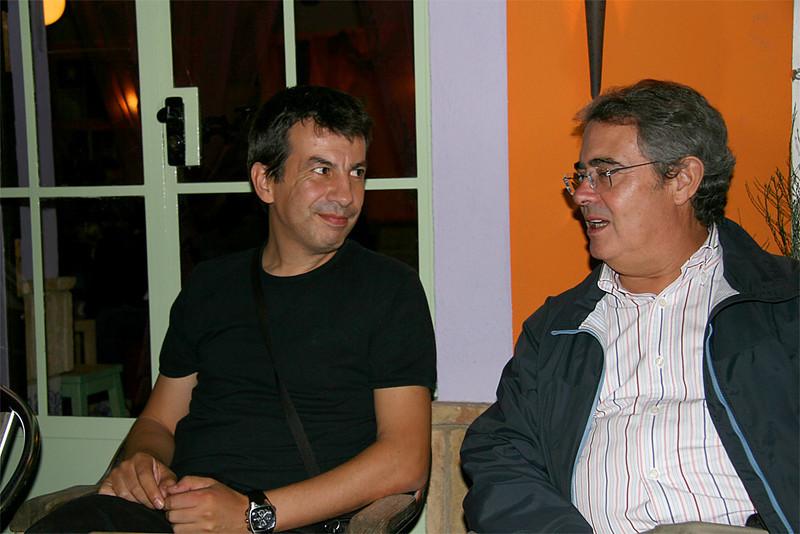 Juan Aragonés y Luis Cuaresma en Almonte