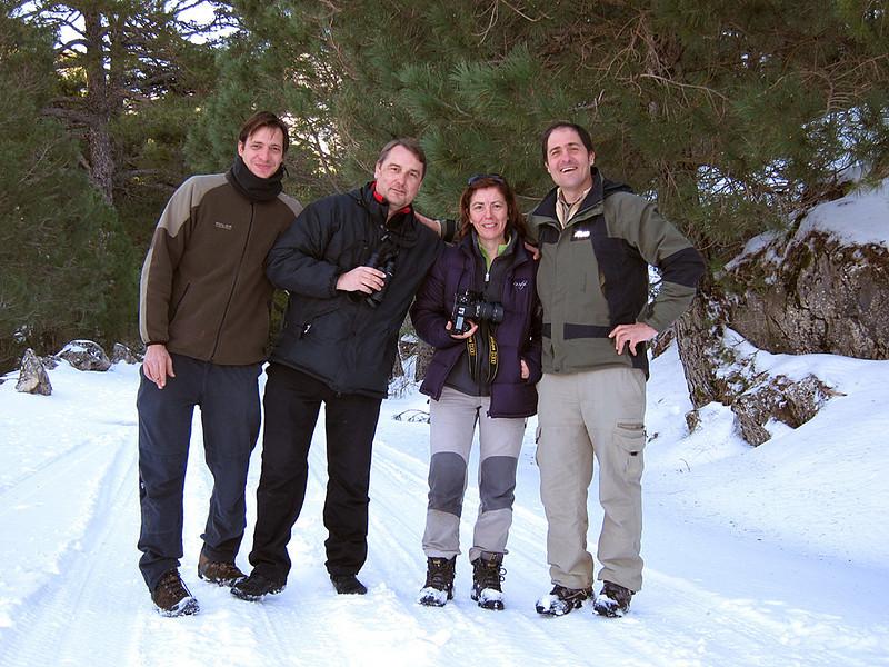 David, Carlos, Ana, Jose Luis. Self portrait with a compact camera