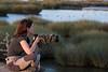 Ana en la Marisma del Guadalquivir
