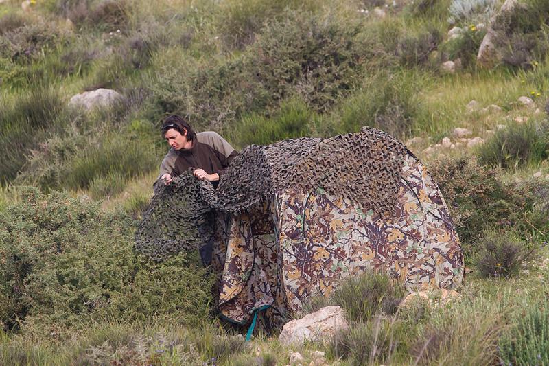 David Torres poniendo el hide (Almería)