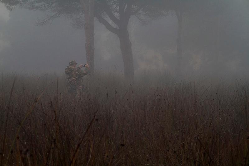 Javier Milla in the mist
