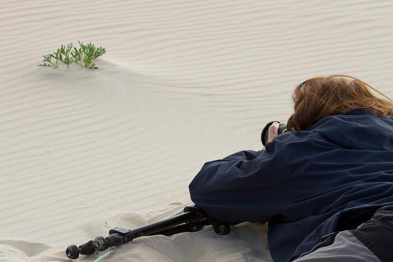 Ana en las playas de Bolonia (Cádiz)