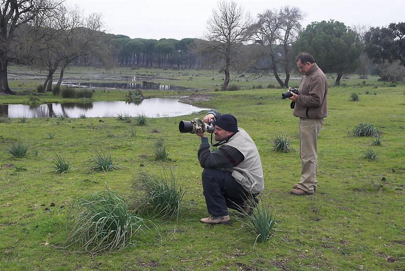 Adolfo Ventas y Pepe Soler en Doñana