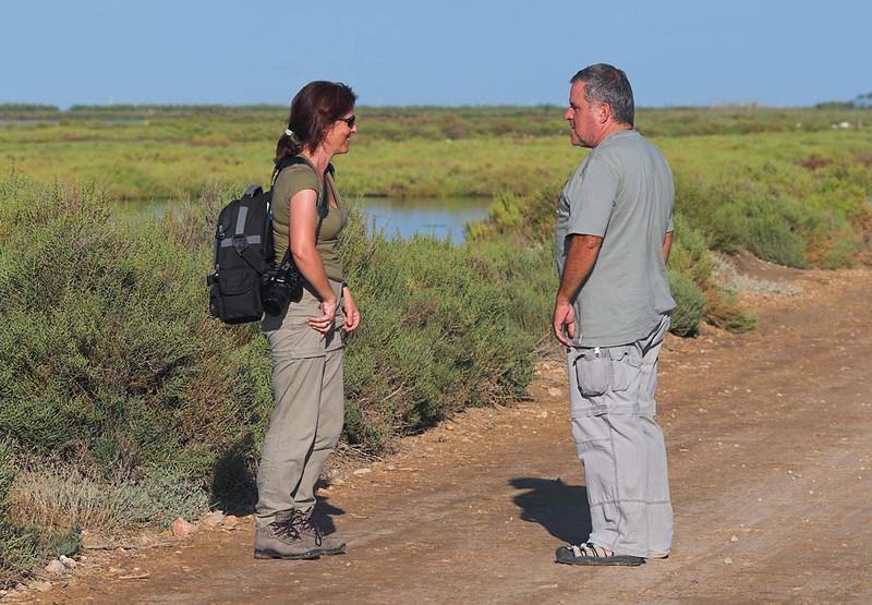 Ana y Joan Gil en el Delta del Ebro