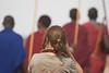 Ana en el poblado Maasai