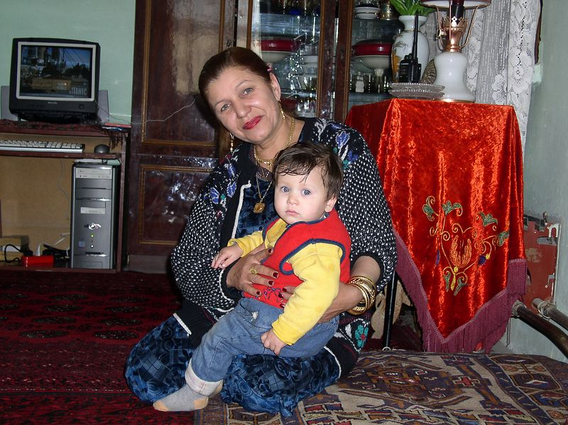 Here is the grandmother with youngest grandchild.