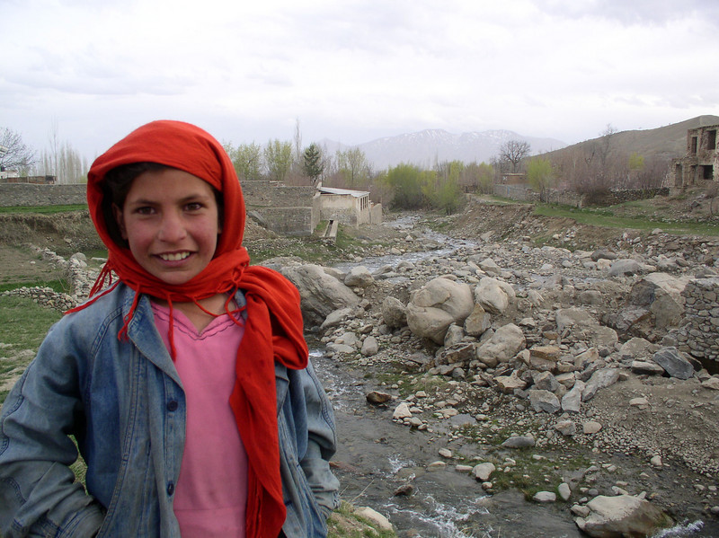 A beautiful village girl in Paghman, about 40 miles outside of Kabul. Afghan New Year's Day.