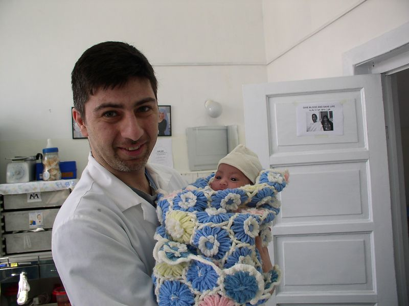 Dr. Kouros, Family Practice resident from University of Wisconsin and the abandoned baby,