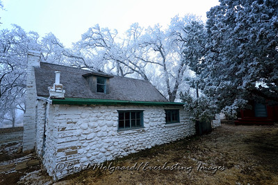 Hoar frost at the ranch house-Guadalupe Mountains National Park, Texas