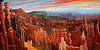 "BRYCE CANYON<br /> <br /> Bryce Canyon National Park, Utah<br /> 48'x24""<br /> oil on canvas<br /> 2005"