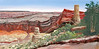 "CASTLE AT GRAND CANYON<br /> <br /> Grand Canyon, Arizona<br /> 24""x 12""<br /> oil on canvas<br /> 2005"