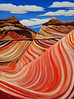 "RIVER SCULPTED ROCK<br /> <br /> Grand Canyon, Arizona<br /> 18""x 24""<br /> oil on canvas<br /> 2006"