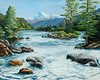 "Truckee, California<br /> 28""x 24""<br /> oil on canvas<br /> 2004"
