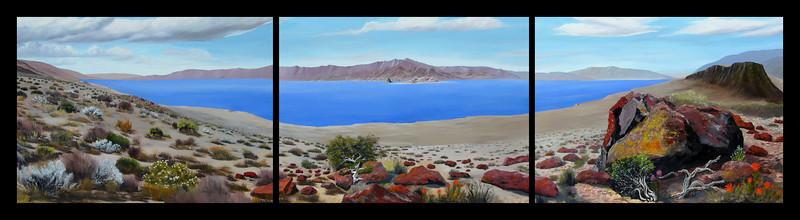 "Pyramid Lake, Nevada<br /> 120""x 36""<br /> oil on canvas<br /> 2007<br /> <br /> (medium resolution version)"