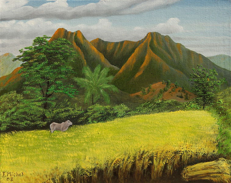 "Castle?, Phillippines<br /> 20""x 16""<br /> oil on canvas<br /> 2008"
