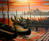 "Venice, Italy<br /> 28""x 24""<br /> oil on canvas<br /> 2003<br /> <br /> LG"